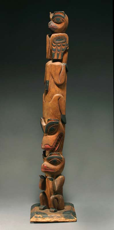 Anthropos Gallery Tsimshian Model Totem Pole With Owl Native